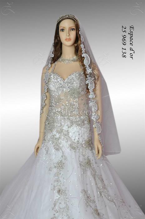 Robe de soiree pour mariage tunisien